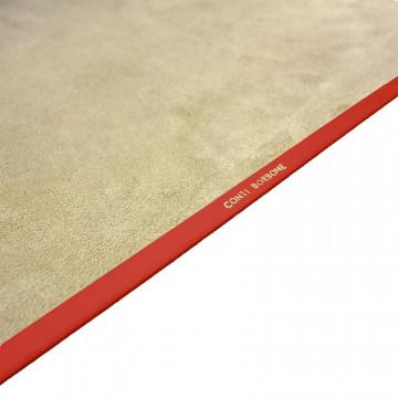 Coral leather desk pad, pink calf leather - Conti Borbone - Customizable mat - decoration 150 - brand
