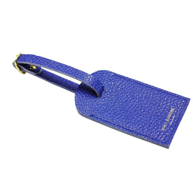 Etichetta bagagli pelle Royal, pelle bovina colore blu - Conti Borbone - brand
