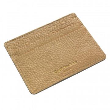 Porta carte pelle Sabbia, porta carte di credito in pelle bovina colore beige - Conti Borbone - brand