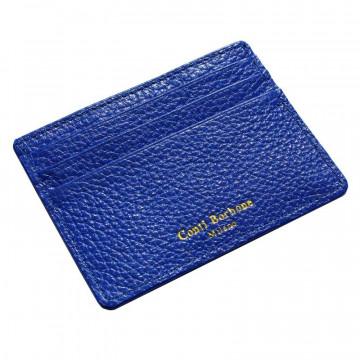 Porta carte pelle Royal, porta carte di credito in pelle bovina colore blu - Conti Borbone - brand