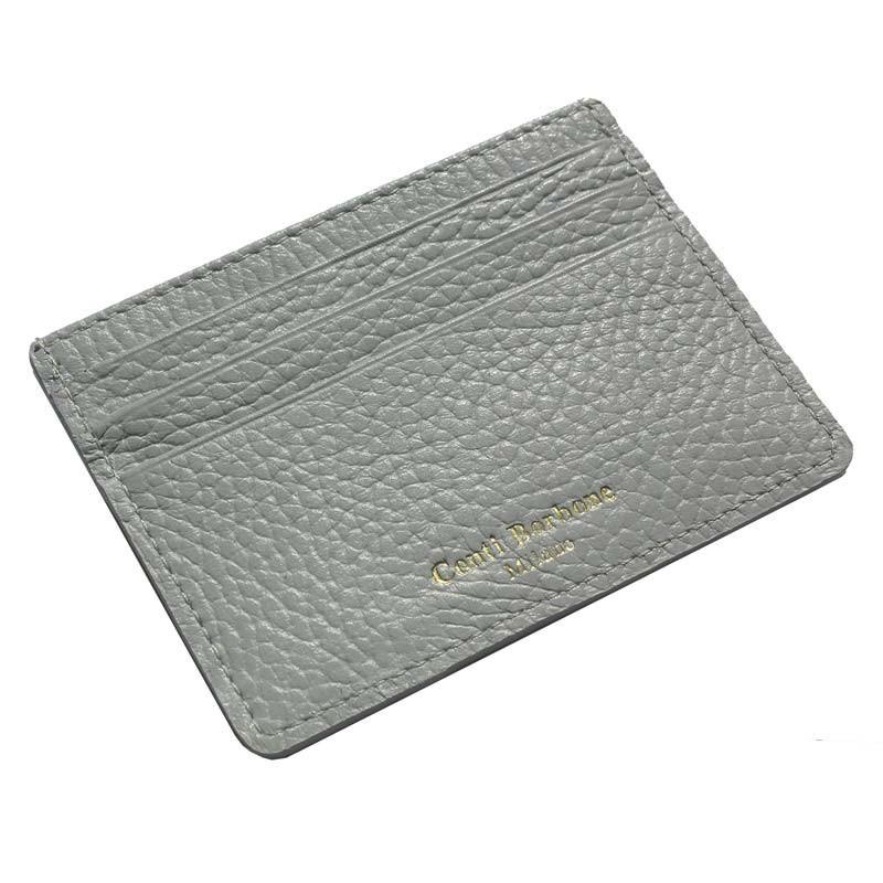 Porta carte pelle Perla, porta carte di credito in pelle bovina colore grigio - Conti Borbone - brand