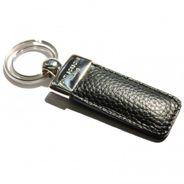 Raven leather keyring, in real black cowhide - Conti Borbone - brand