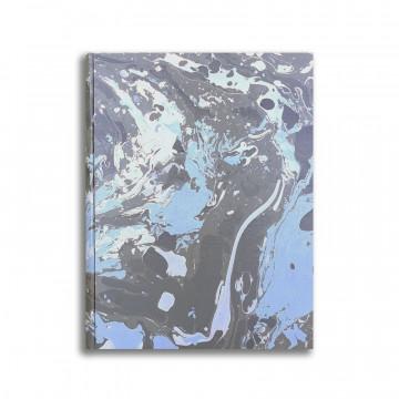 Album foto in carta marmorizzata blu azzurro bianco Susan - Conti Borbone - standard fronte