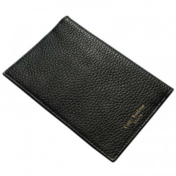Raven leather passport cover, black cowhide genuine leather document holder - Conti Borbone - brand