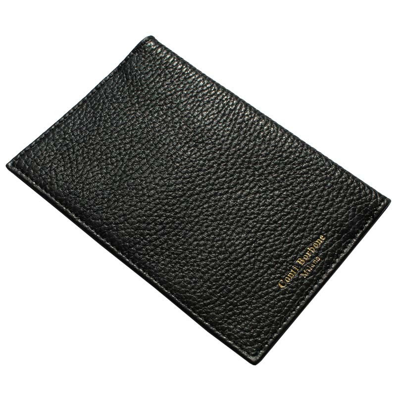 Porta passaporto pelle Corvino, porta documenti in vera pelle bovina colore nero - Conti Borbone - brand