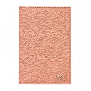 Porta passaporto pelle Mauve, porta documenti in vera pelle bovina colore rosa - Conti Borbone - stampatello