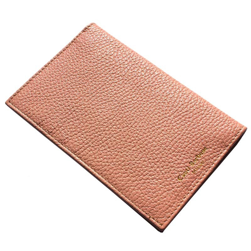 Mauve leather passport cover, pink cowhide genuine leather document holder - Conti Borbone - brand