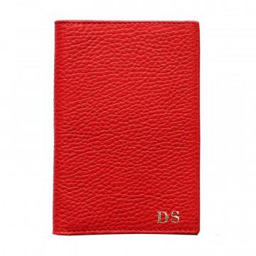 Porta passaporto pelle Lipstick, porta documenti in vera pelle bovina colore rosso - Conti Borbone - stampatello