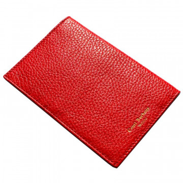 Lipstick leather passport cover, red cowhide genuine leather document holder - Conti Borbone - brand