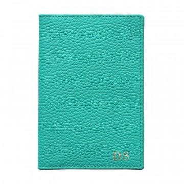 Porta passaporto pelle Smeraldo, porta documenti in vera pelle bovina colore verde - Conti Borbone - stampatello