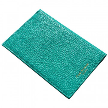 Emerald leather passport cover, green cowhide genuine leather document holder - Conti Borbone - brand
