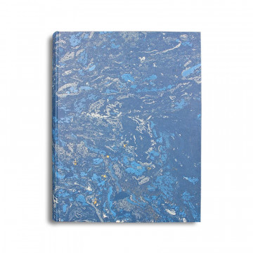 Photo album Joe in marbled paper blue and white - Conti Borbone - standard