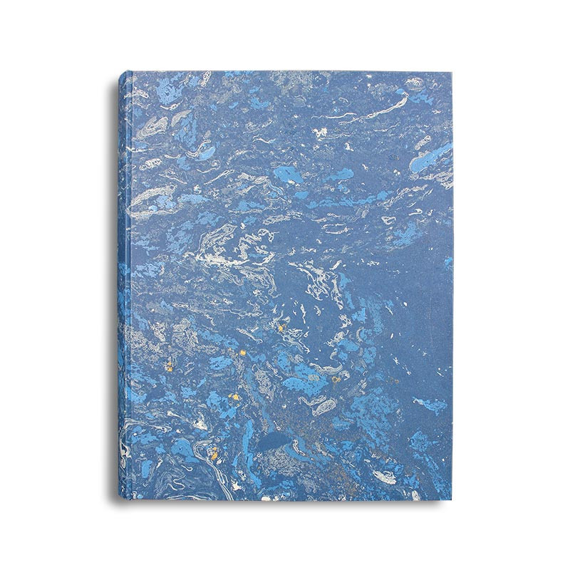 Photo album Joe in marbled paper blue and white - Conti Borbone - standard