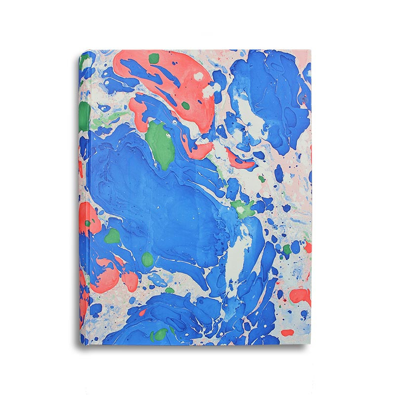 Photo album Giovy in marbled paper blue, green and red - Conti Borbone - standard