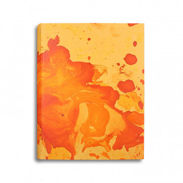 Photo album Silvia in marbled paper orange and yellow - Conti Borbone - standard