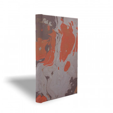 Marbled paper notebook  grey, coral, brown Marco - Conti Borbone - Made in Italy prospective