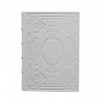 Ice Leather diary, white color with decoration - Conti Borbone - Milan - made in Italy