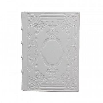 Diario in pelle Chiaccio colore bianco con decorazione - Conti Borbone - Milano fronte