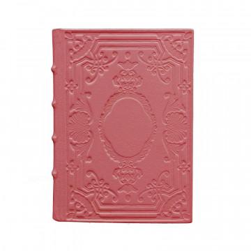 Diario in pelle Fuxia colore rosa con decorazione - Conti Borbone - Milano - fronte