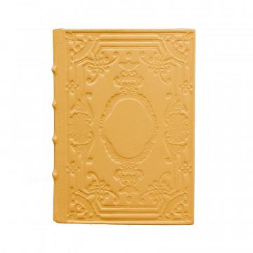 Diario in pelle Sole colore giallo con decorazione - Conti Borbone - Milano - fronte