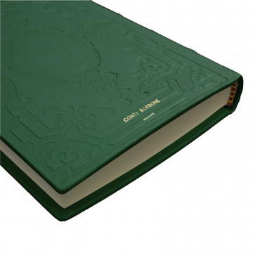 Pino leather diary, green color with decoration - Conti Borbone - Milan - made in Italy - Brand