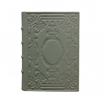Graphite Leather diary, gray color with decoration - Conti Borbone - Milan - made in Italy