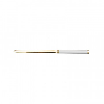 Ice leather knife - Conti Borbone - Paper knife in white calf leather