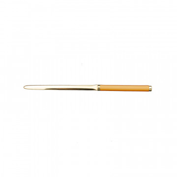 Sun leather knife - Conti Borbone - Paper knife in yellow calf leather
