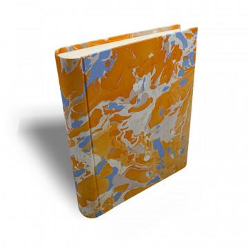 Album foto in carta marmorizzata corallo arancione blu bianco Viviana - Conti Borbone - standard profilo