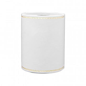 Portapenne in pelle Ice - Conti Borbone - porta penne in pelle di vitello bianco - decorazione 90