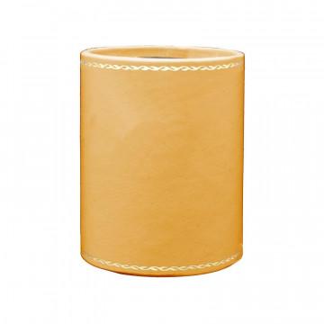 Portapenne in pelle Sun - Conti Borbone - porta penne in pelle di vitello giallo - decorazione 90