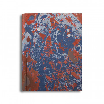 Photo album in marbled paper blue coral white Serena - Conti Borbone - standard