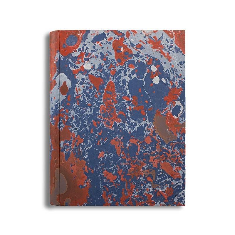 Album foto in carta marmorizzata corallo  blu bianco Serena - Conti Borbone - standard