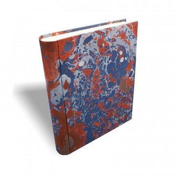 Photo album in marbled paper blue coral white Serena - Conti Borbone - standard prospective