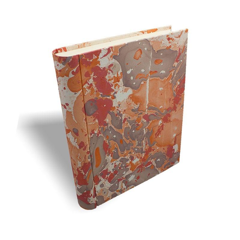 Album foto in carta marmorizzata corallo   marrone Filomena - Conti Borbone - standard profilo