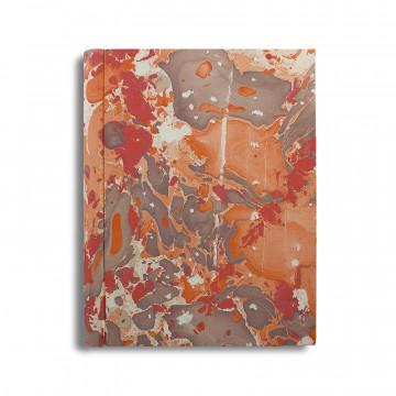 Album foto in carta marmorizzata corallo   marrone Filomena - Conti Borbone - standard