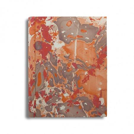 Photo album in marbled paper brown coral Filomena - Conti Borbone - standard