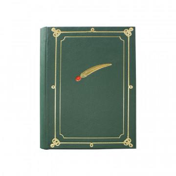 Album foto Alpino similpelle verde con penna alpina - Conti Borbone - per la tua adunata alpina