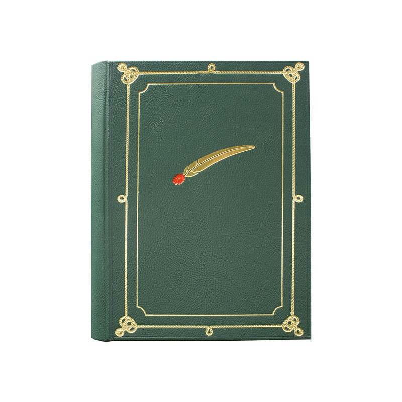 Alpine photo album gathering green leatherette Alpine pen - Conti Borbone - for your alpine gathering