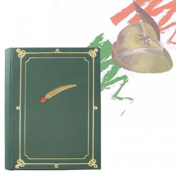 Album foto Alpino similpelle verde con penna alpina - Conti Borbone - per la tua adunata alpina profilo promo