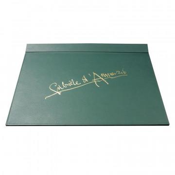 Sottomano Gabriele d'Annunzio realizzato a mano in similpelle verde - Conti Borbone -