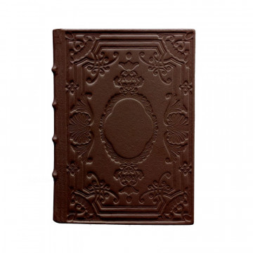 Cuoio leather diary, brown color with decoration - Conti Borbone - Milan - made in Italy