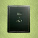 Album foto pelle English - Conti Borbone - Pelle bovina verde - Esempio standard decoro 90 corsivo