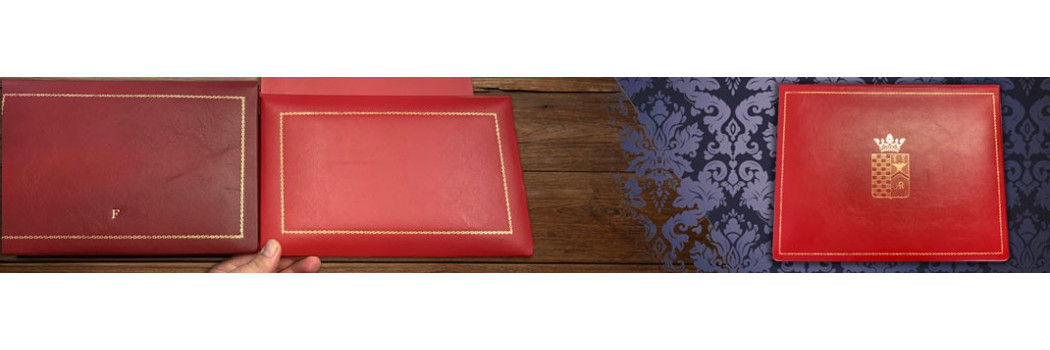Luxury leather boxes - Conti Borbone - Hand made gold customized